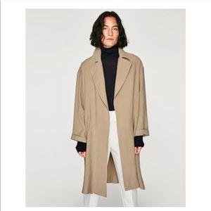 Nude Zara Flowing Trench Coat/ Parka🌹